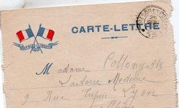 """CL-  """" Patrie Et Liberté """"- 2 Drapeaux - - Storia Postale"""