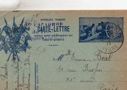 """CL-  """"  Le 75  """"- 3 Drapeaux - - Storia Postale"""