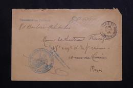 FRANCE - Enveloppe En FM Pour Paris En 1909, Cachet De L'Ecole D'Instruction De La Caserne Du Prince - L 62141 - Storia Postale