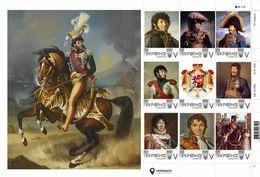 Ukraine 2018, Napoleon Bonaparte Marshal Joachim Murat, Sheetlet Of 9v - Ucraina