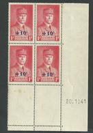 Au Profit Du Secour National  ,n° 472 Coin Daté Du 20 1 1941 ** - 1940-1949