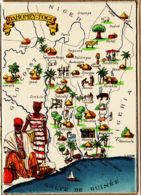 BD050  DAHOMEY-TOGO Porto-Novo Golfe GUINEE Niger - Série Carte Géographique BARRE DAYEZ 1326-I Dépot 1945 CPSM - Illustratori & Fotografie
