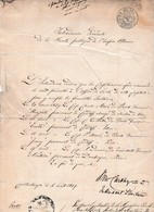 1849 EMPIRE OTTOMAN - CONSTANTINOPLE - Patente De Santé Pour Des Capitaines En Provenance De CARDIFF - Historical Documents