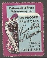 France - Publicity Poster Stamp For Plums (prunes) - Sonstige