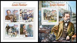 SIERRA LEONE 2015 - L. Pasteur - YT CV=44 €, 5117-20 + BF741 - Medicina