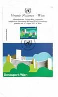 United Nation Vereinte Nationen Post Card Donaupark Wien - Maximumkaarten