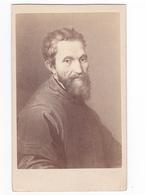 Photographie Gustav Schauer BERLIN Peintre MICHELANGELO Portrait De Michel Ange N°334 VOIR DOS - Fotos