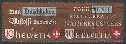OO-/-829-   ZUMSTEIN  N° Z 33a,  BELLE OBL., YVERT 375 Et 377 Se TENANT - COTE 2.50 CHF = 2.00 €, VOIR IMAGE - Se-Tenant