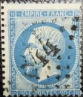 N°22.Variété(partie Gauche Filet Doublé,traits Blancs Devant Moustache) .Oblitéré Losange G.C.n°844 Châlons-en-Champagne - 1862 Napoléon III.