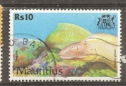 Mauritius 2000 Poisson Fish Eel Obl - Maurice (1968-...)