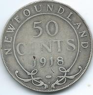 Newfoundland - George V - 1918 - 50 Cents - KM12 - Canada