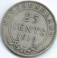 Newfoundland - George V - 25 Cents - 1919 - KM17 - Canada