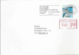 """Motiv Brief  """"Galerie Nathan, Zürich"""" - München  (PP Zusatzfrankatur)          1976 - Schweiz"""