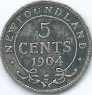Newfoundland - Edward VII - 1904 H - 5 Cents - KM7 - Canada