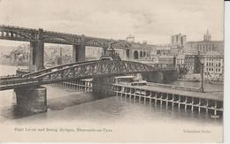 ANGLETERRE NORTHUMBERLAND NEWCASTLE ON TYNE HIGH LEVEL AND SWING BRIDGES - Newcastle-upon-Tyne