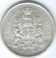 Canada - Elizabeth II - 1966 - 50 Cents - KM63 - Canada