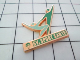 219 Pin's Pins / Beau Et Rare / THEME : SPORTS / GYMNASTIQUE VOLONTAIRE GV SPORT SANTE Par FRAISSE - Ginnastica