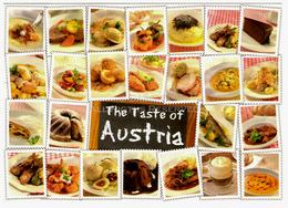 LOT102 - Postcard Österreich 2014 The Taste Of Austria So Schmeckt Food Recipes Eat Sweet Cake Collage - Viaggiata - Ricette Di Cucina