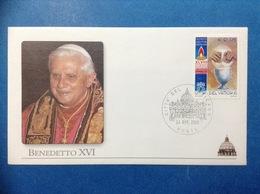 VATICANO BUSTA COMMEMORATIVA PAPA BENEDETTO XVI ANNULLO 24 APRILE 2005 - FDC