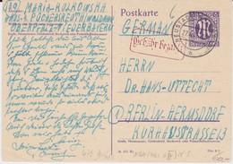 Am Zone Behelfsausgabe Ganzsache P 903 + Ra2 Gebühr Bezahlt Neustadt Waldnaab 1946 - American/British Zone