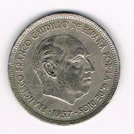 -&  SPANJE 25 PESETAS 1957 (68)  FRANCO - 25 Pesetas