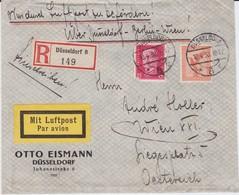 DR Weimar Div Luftpost Ausl RBf Düsseldorf 1930 - Storia Postale
