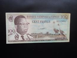 RÉPUBLIQUE DÉMOCATIQUE DU CONGO * : 100 FRANCS   01.03.1962    P 6a     TTB - Congo