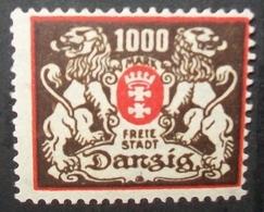 N°2261H BRIEFMARKE DEUTSCHES REICH DANZIG NEU OHNE FALZ - Dantzig