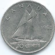 Canada - Elizabeth II - 1968 - 10 Cents - KM72 - Canada