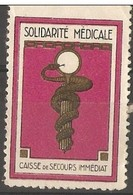 France - Emergency Health Services Poster Stamp - Commemorative Labels