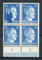 Deutsches Reich MiNr. 791 Postfrisch MNH Farbübersättigung Im 4er Block (O473 - Errors And Oddities