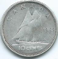 Canada - Elizabeth II - 1963 - 10 Cents - KM51 - Canada