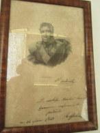Lithographie - Gravure - Cadre - Signé Andreossy 1843   19 Cm Par 27 Cm - Armas De Colección