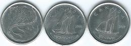 Canada - Elizabeth II - 10 Cents - 2001 (KM183b) 2001 - Year Of Volunteers (KM412) 2017 (KM492) - Canada