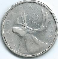 Canada - Elizabeth II - 1957 - 25 Cents - KM52 - Canada