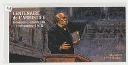 """FRANCE - Bloc Souvenir N° 148 - Neuf Sous Blister - """" Georges Clémenceau - 11 Novembre 1918. """" - - Blocs Souvenir"""