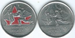 Canada - Elizabeth II - 25 Cents - 2009 - Winter Olympics - Women's Hockey Gold Medal (KMs 1064 & 1064a) - Canada