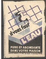 France - Poster Stamp For Clean Water In The Home. - Commemorative Labels
