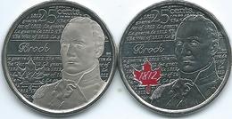 Canada - Elizabeth II - 25 Cents - 2012 - Sir Isaac Brook (KMs 1322 & 1322a) - Canada