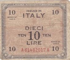 Billet  Italien  De 1943  Etat D'usage - Armi Da Collezione