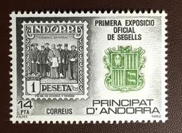 Andorra Spanish 1982 Stamp Exhibition MNH - Andorra Spagnola