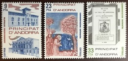 Andorra Spanish 1982 Anniversaries MNH - Andorra Spagnola