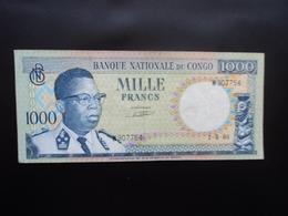 RÉPUBLIQUE DÉMOCRATIQUE DU CONGO * : 1000 FRANCS  1.8.1964     P 8a      TTB+ - Congo