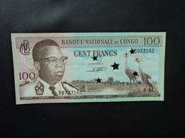 RÉPUBLIQUE DÉMOCRATIQUE DU CONGO * : 100 FRANCS  1.8.1964     P 6s     Presque NEUF - Congo