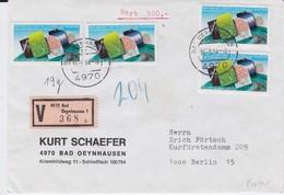REDUZIERT Bund Mi 1187 Geodäsie + Geophysik (4) MeF WBf Bad Oeynhausen 1984 R - Storia Postale