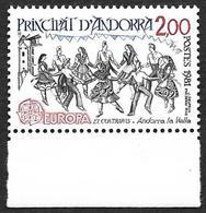 ANDORRE  -   YT N°293  - Europa  - Danses  Année  1981   - NEUF** Bas De Feuille - Andorra Francese