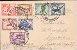 609-616 Olympische Spiele Ohne 612 Auf Passender AK SSt BERLIN Olympia 4.8.1936 - Olympische Spiele
