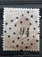 19A 15x15  Pts 94 Deynze COBA+8€ Concours TTB - 1865-1866 Linksprofil