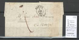 France -Lettre De BASTIA - Corse - 2 Piéces  - Pour NONZA  Port Dû 1 Décime - Marcophilie (Lettres)