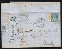 FRANCE ( OBLITERATION LOSANGE ) GC 830 ,Chagny Saône-et-Loire  COTE  1.50  EUROS , A  SAISIR . TIR - Marcophilie (Lettres)